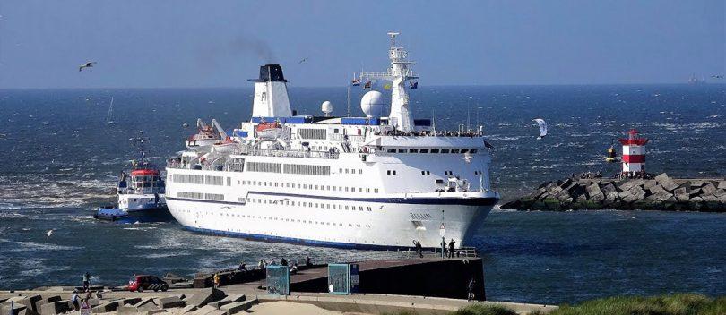 Beveiliging eerste Cruiseschip in Scheveningen
